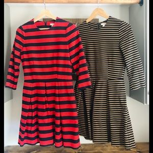 Gap lot of 2 fit and flare dress with pockets sz 4